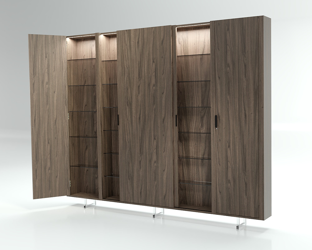 3D Furniture Rendering Walnut Option