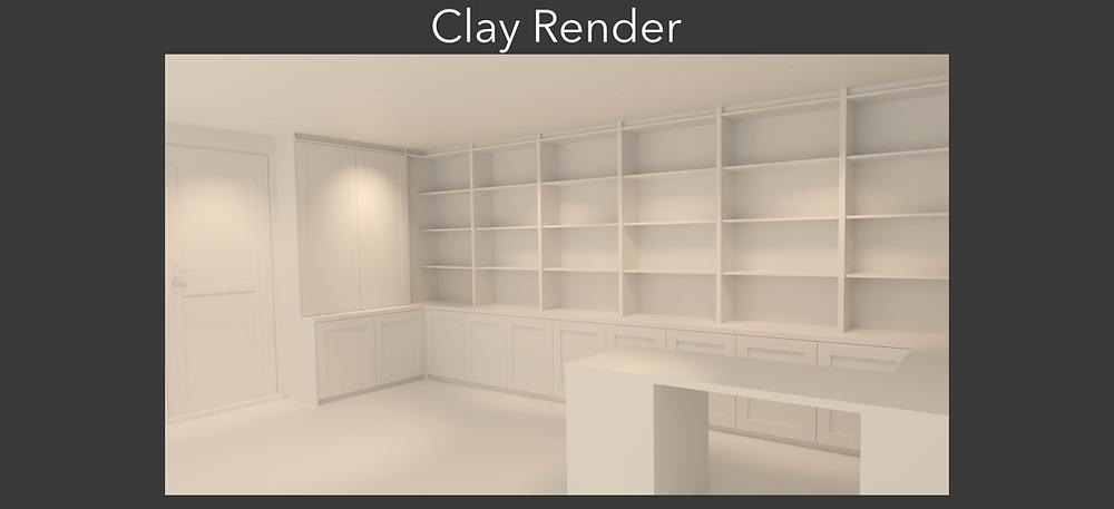 3D Clay Rendering