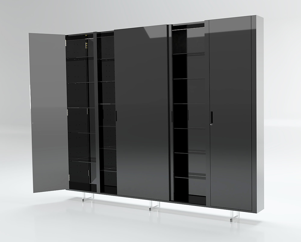 3D Furniture Rendering Black Gloss Option