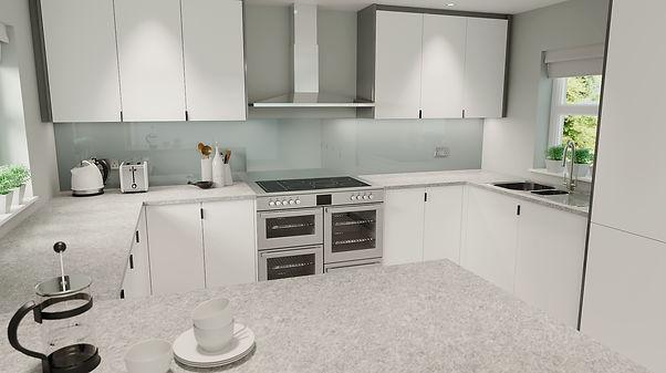 DN Drawings Light Kitchen - 3D Rendering