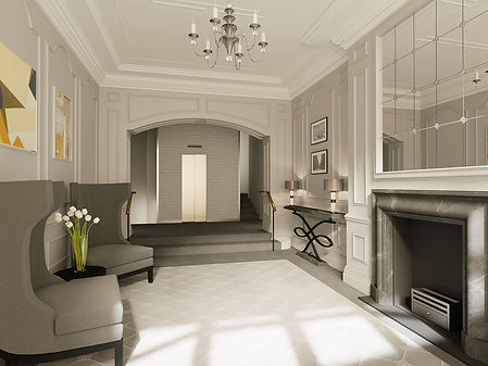 Entrance Hall 3D Rendering DN Drawigs