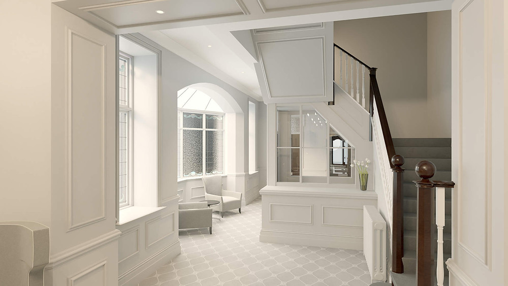 DN Drawings - Entrance Hall - 3D Rendering.