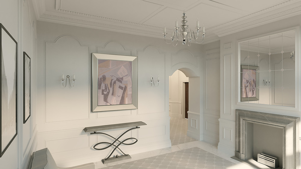 DN Drawings - Entrance Hall - 3D Rendering