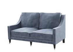 Traditional Sofa Navy Velvet