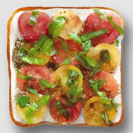 Tomato Ricotta Toast