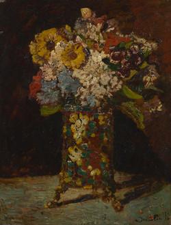 図6 モンティセリ《花の静物》