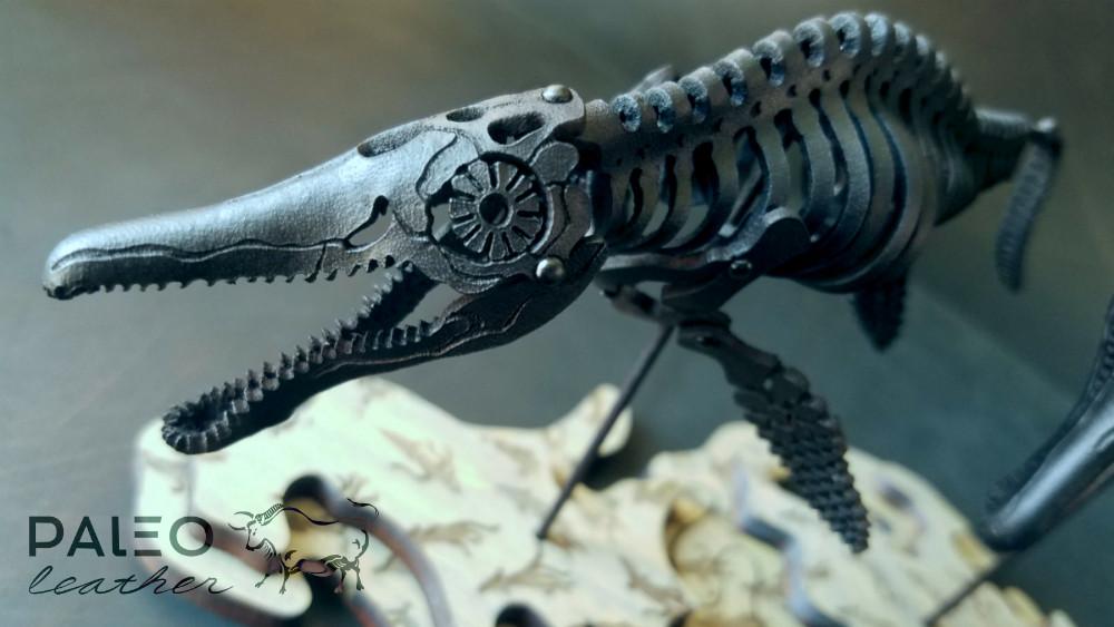 ichthyosaur, paleoleather, paleo, leather, art, fossils, skeleton, ichthyosaurus, diy, kit, prehistoric, toy, model, ancient, ocean, paleoart, paleo, leather, seamonster