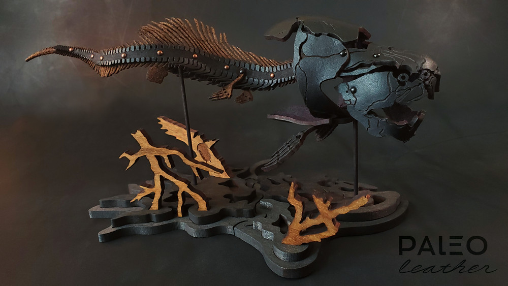 dunkleosteus, leather, kit, leatherkit, paleo, leather, paleoleather, janelle, janellebecker, devonian, diy, artkit, artist, leatherartist, paleoart, paleoartist, placoderm, seamonster, ancient, ocean, marine, fossil, oceanfossil, exoskeleton, prehistoric, trilobite, woodenkit, puzzle, dinosaurs, dinoart, scaryfish, fish, scary, rivermonster, rivermonsters, seadragon