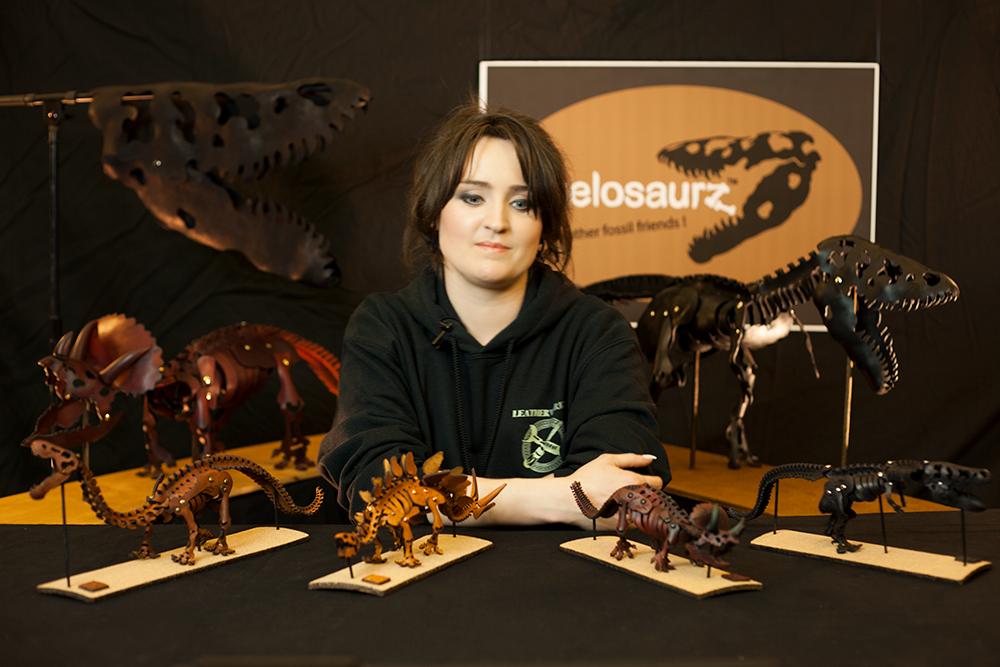 Kickstarter, Skelosaurz, Leather, Dinosaur, Fossils, Art, Kit, DIY, Janelle Becker