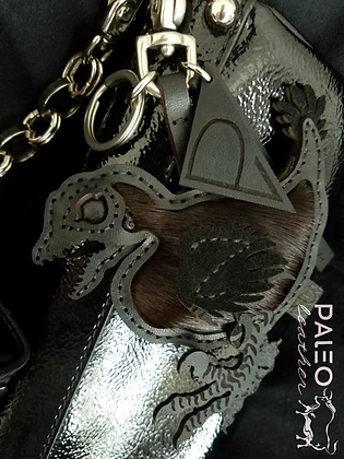 Deinonychus Feathered Hatchling Bag Charm