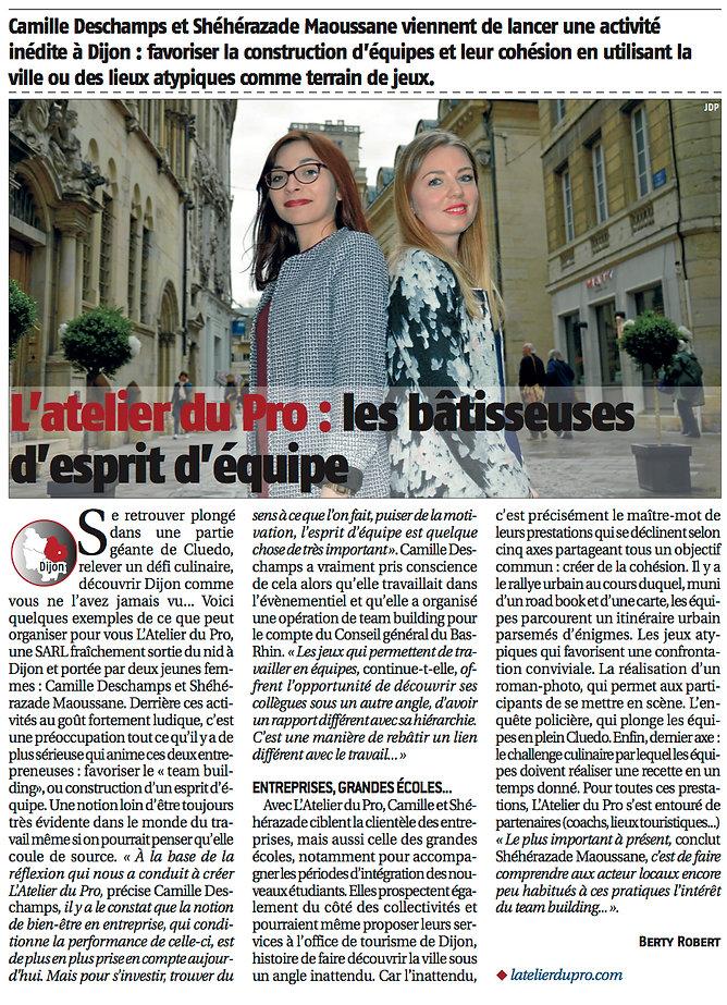 L'Atelier du Pro - Le Journal du Palais - Team building sémianire