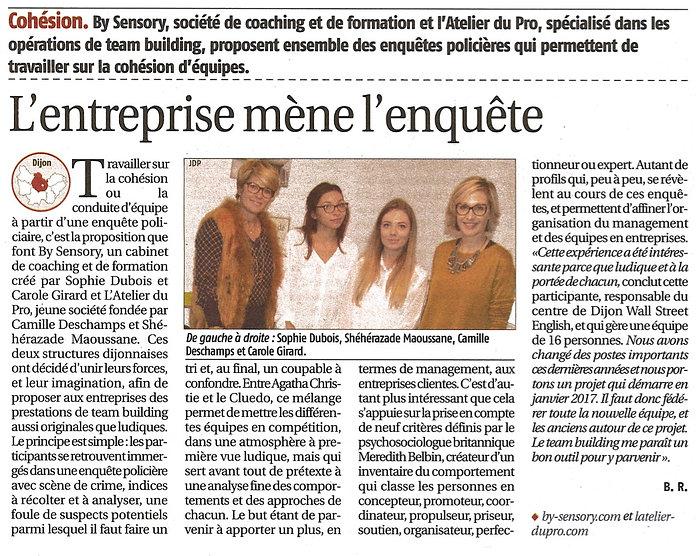 Article Journal du Palais Team Building