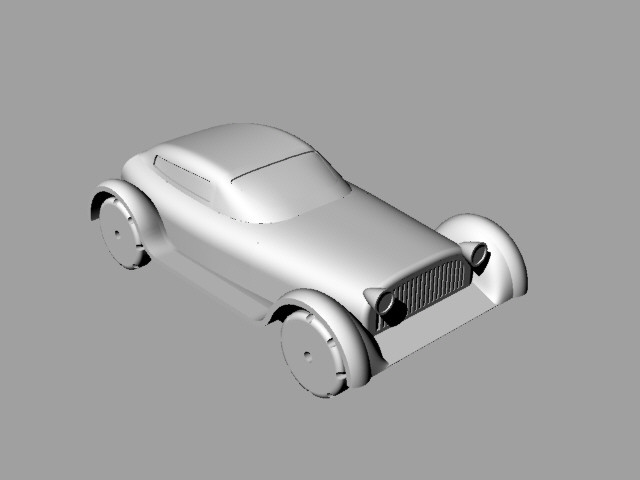 Original Car Body Design 3D Modeled in Rhino