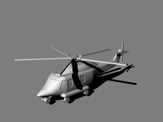 AW 139 Helicopter 3D Modeled in Rhino
