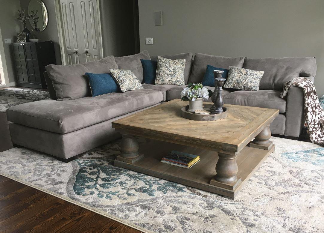 Balustrade Coffee Table Rustic 9 Furniture