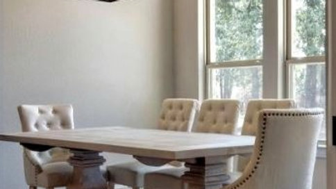 Trestle Dining Table - Pine Wood