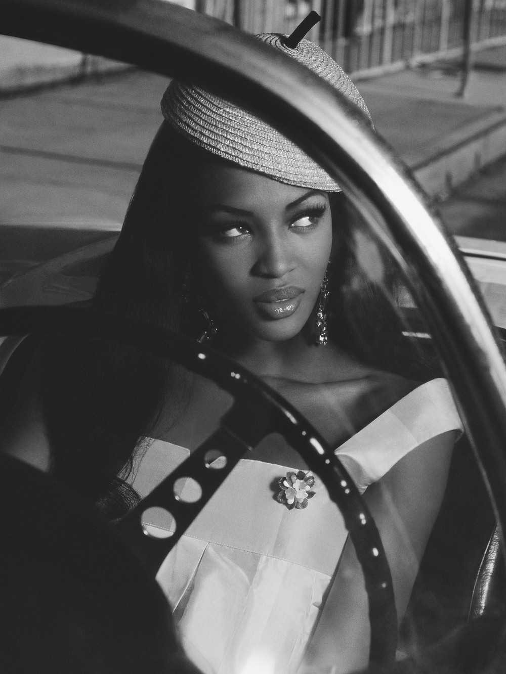 "Albert Watson - ""Naomi Campbell in Car"" (1991)"