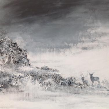 Red Deer in Mist