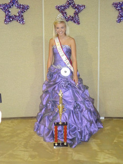 Amber Allen purple dress