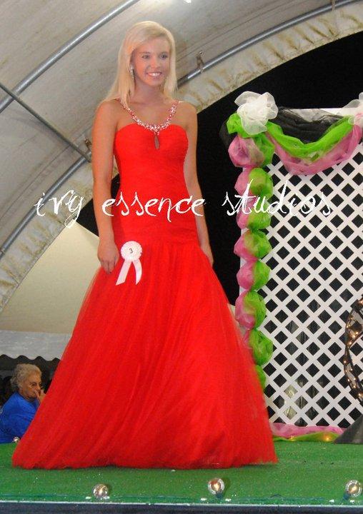 Amber Allen red dress