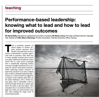 Performance-based leadership: knowing what to lead and how to lead for improved outcomes.