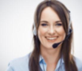 Portrait of woman customer service worke