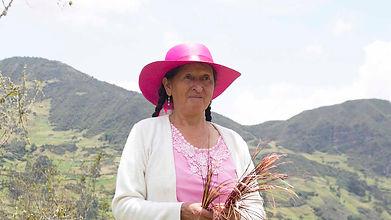 Zoila Hermelinda Tacuri es tejedora de Sombreros de Paja Toquilla (Panama Hats) y socia de MAKI FairTrade. Vive en Principal, Chordeleg, Azuay, Ecuador.
