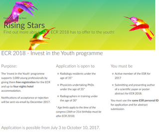ECR 2018 - Invest in the Youth programme