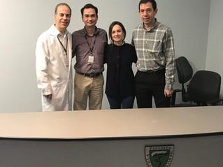 Estágio da Residente do Centro Hospitalar de Santarém - Portugal no setor de tórax.