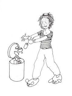 une jeune femme qui jette se cosmétiques à la poubelle
