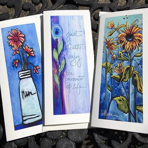 Vertical Florals Gift Card Set No.1