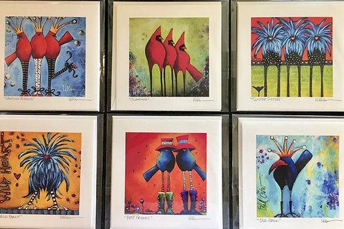 Bird Whimsy Gift Card Set No.3