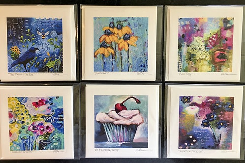 Abstract Florals & Cupcakes Gift Card Set No.2