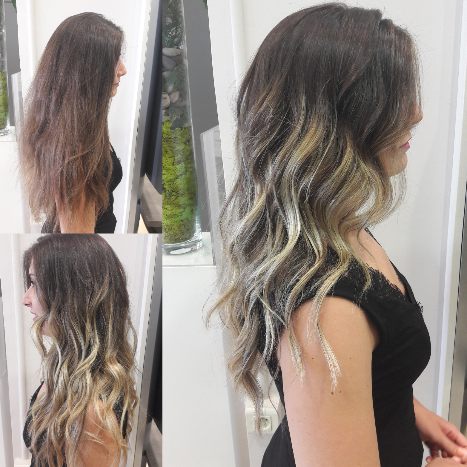 Haircontouring, ombré hair