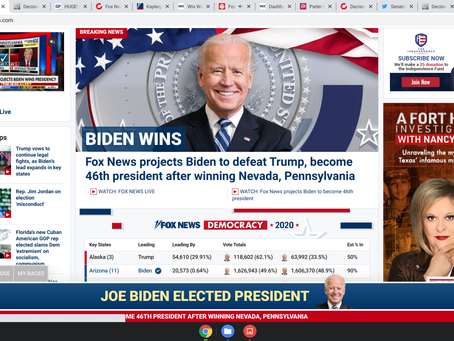 Fox News projects Biden to defeat Trump, become 46th president after winning Nevada, Pennsylvania
