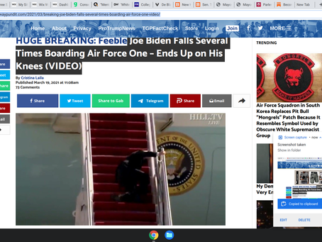 Joe Biden Falls Several Times Boarding Air Force One – Ends Up on His Knees (VIDEO)