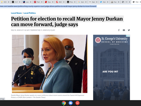 Petition for election to recall Mayor Jenny Durkan can move forward, judge says
