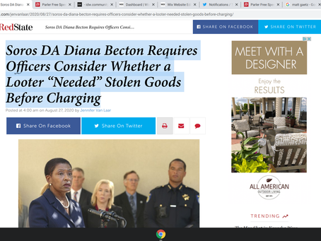 """Soros DA Diana Becton Requires Officers Consider Whether a Looter """"Needed"""" Stolen Goods"""