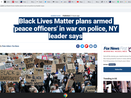 Black Lives Matter plans armed 'peace officers' in war on police, NY leader says
