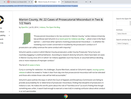 Marion County, IN: 22 Cases of Prosecutorial Misconduct in Two & 1/2 Years