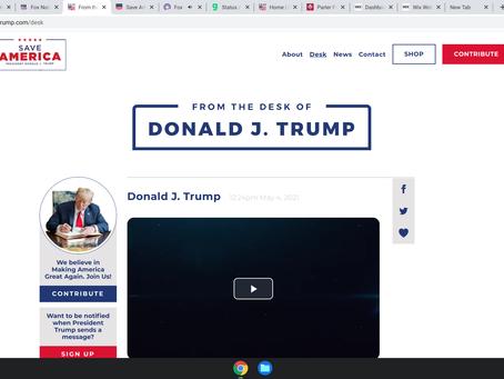 Trump launches new website - it is a blog, not a social media website - DonaldJTrump.com