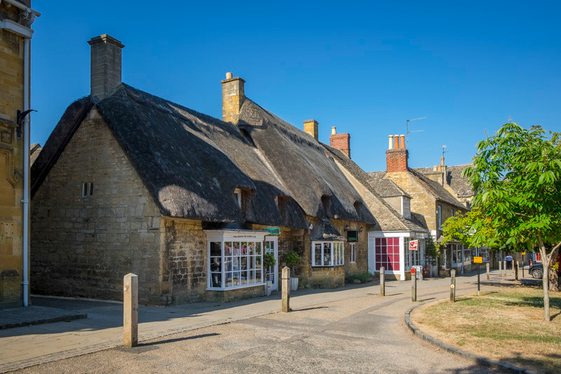 Thatched roofs houses in Chipping Campden