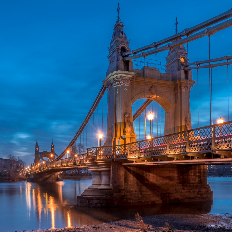 Hammersmith bridge at photography tour in London