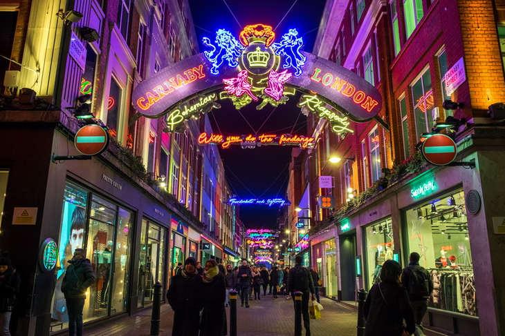 Christmas Lights in London Carnaby Street