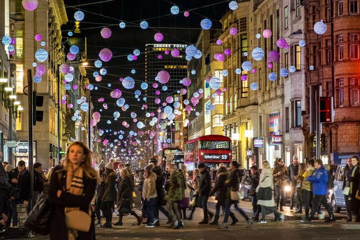 Christmas Lights in London Oxford Street