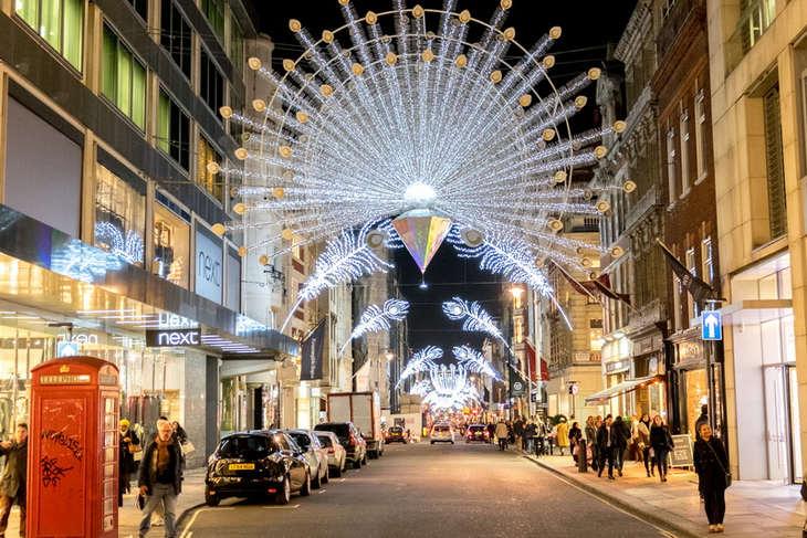 Christmas Lights in London Bond Street