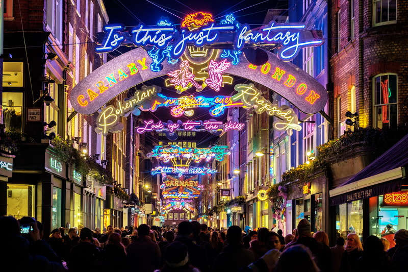 Christmas Lights in London Carnaby Street