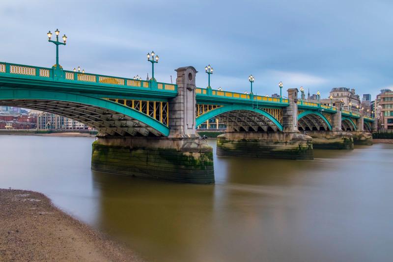 Soutwark bridge long exposure in London