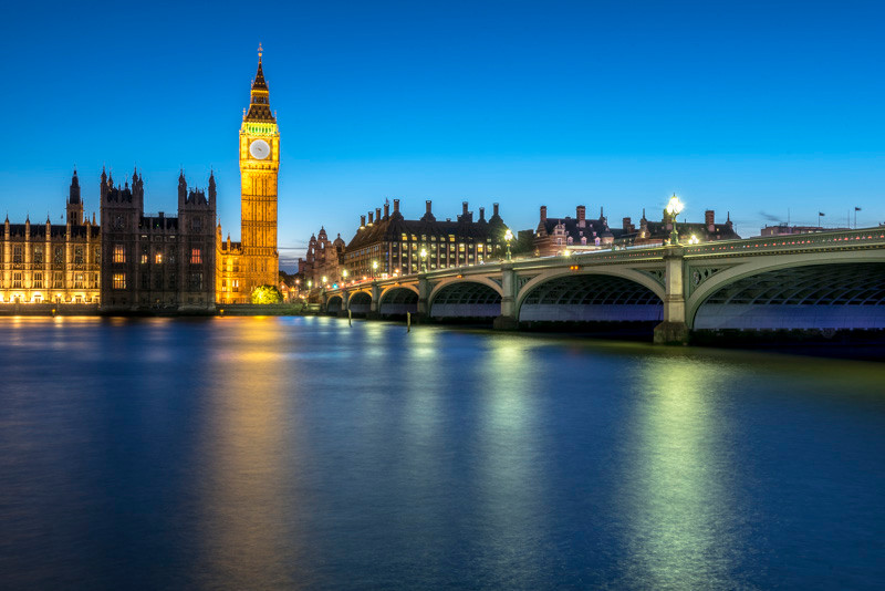 Westminister Bridge at night