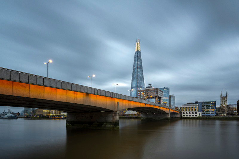 London Bridge long exposure at the blue hour in London